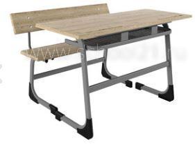 Парта двухместная + ученическая скамья
