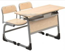Парта двухместная + два стула